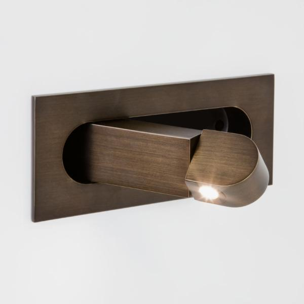 DIGIT LED 1x3W 2700K 114lm, lülitiga seinavalgusti, pronks, LED liiteseadme ja valgusallikaga