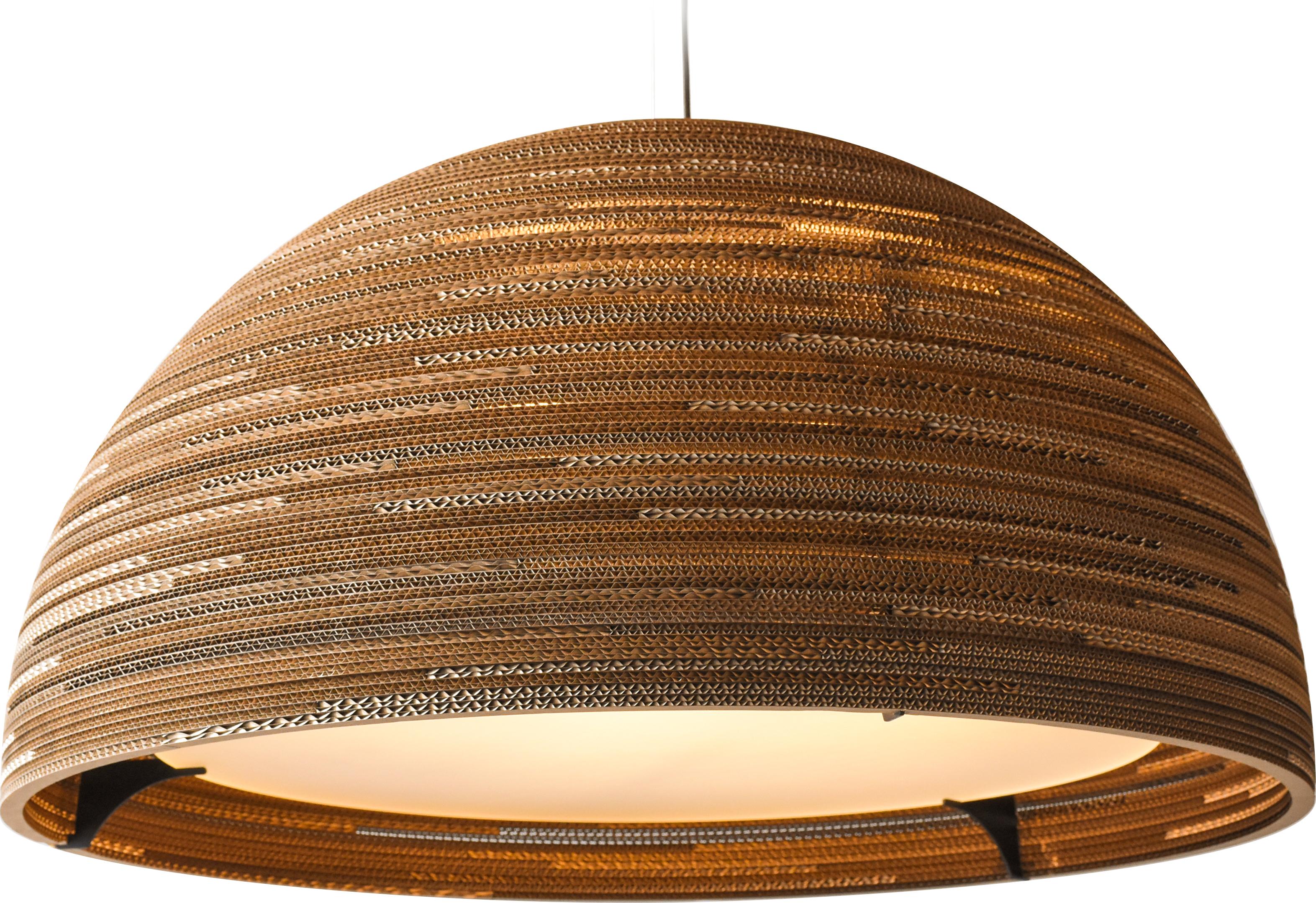 Dome36 Natural rippvalgusti 3x15W E27; Ø 93cm, H 51cm; pruun