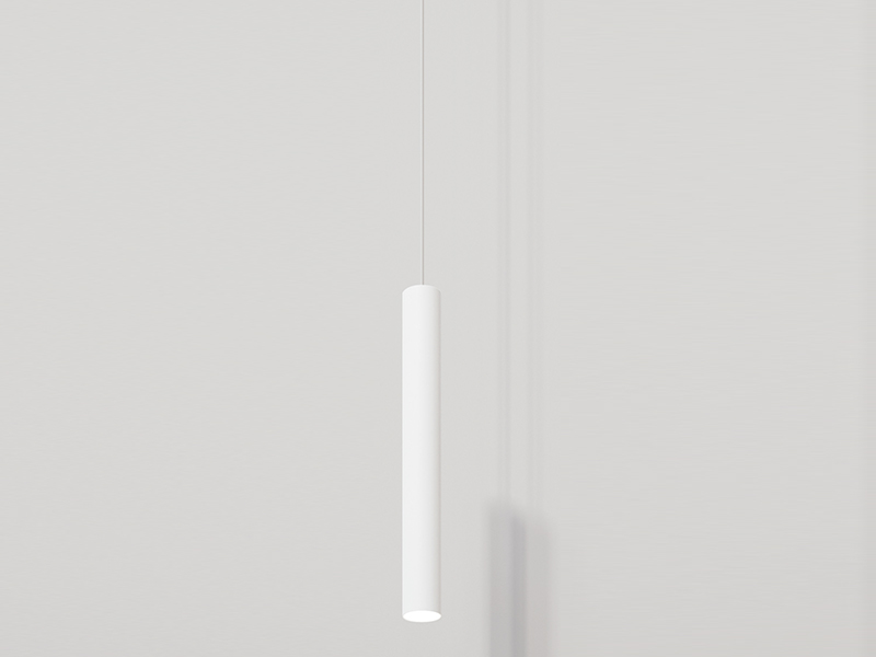 To-Be rippvalgusti h450 Ø55 10W LED 2700K CRI>90, valge, rosetiga