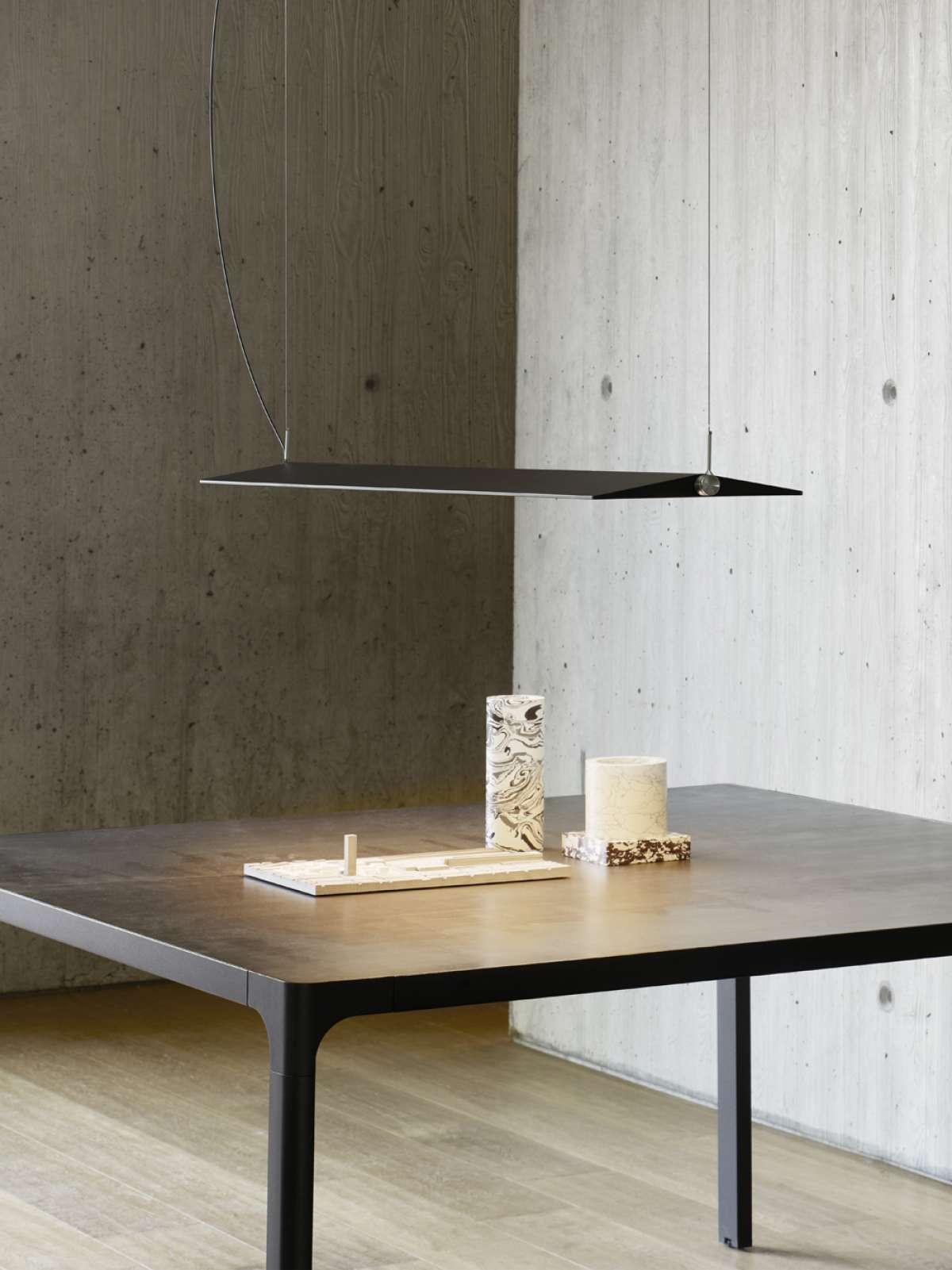Rippvalgusti Fienile LED 52W 2260lm 3000K CRI90 hämardatav; alumiinium, tume-hall / opaalne hajuti