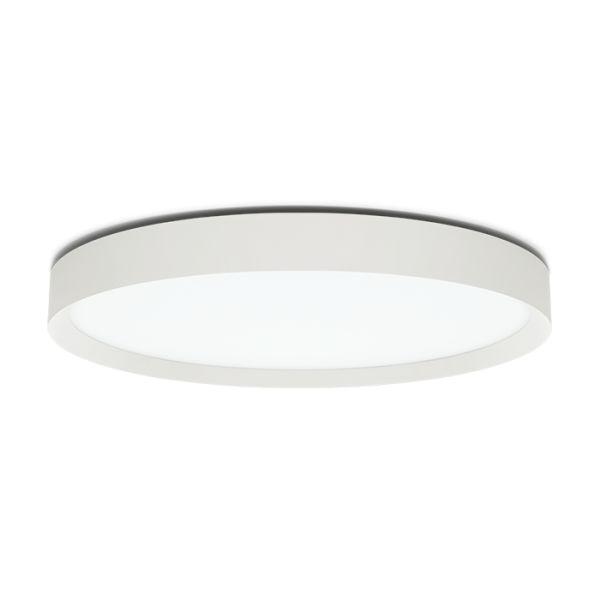 Plafoonvalgusti Flo T 500 LED 45W 3990lm 3000K alumiinium, valge