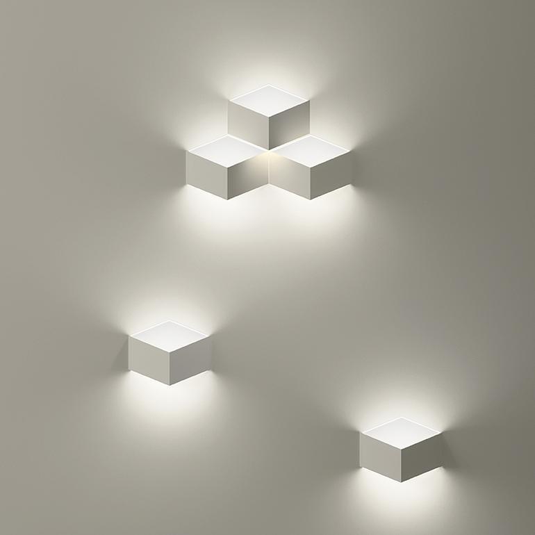 Fold 6X2,1W LED 2700K 1196lm ülevärvitav seinavalgusti, sisseehitatav, toiteplokk komplektis