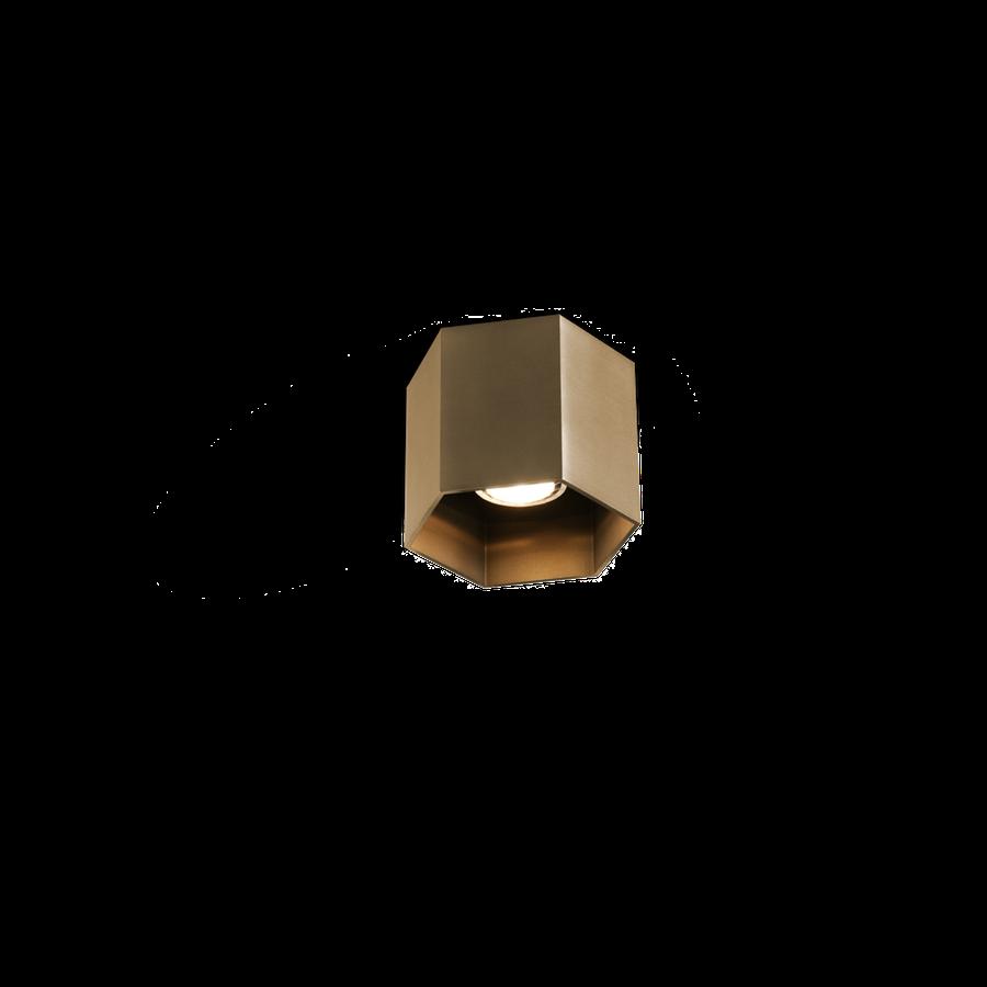 Hexo Ceiling 1.0 LED 8W 3000K dim 80CRI 220-240V, Kuldne
