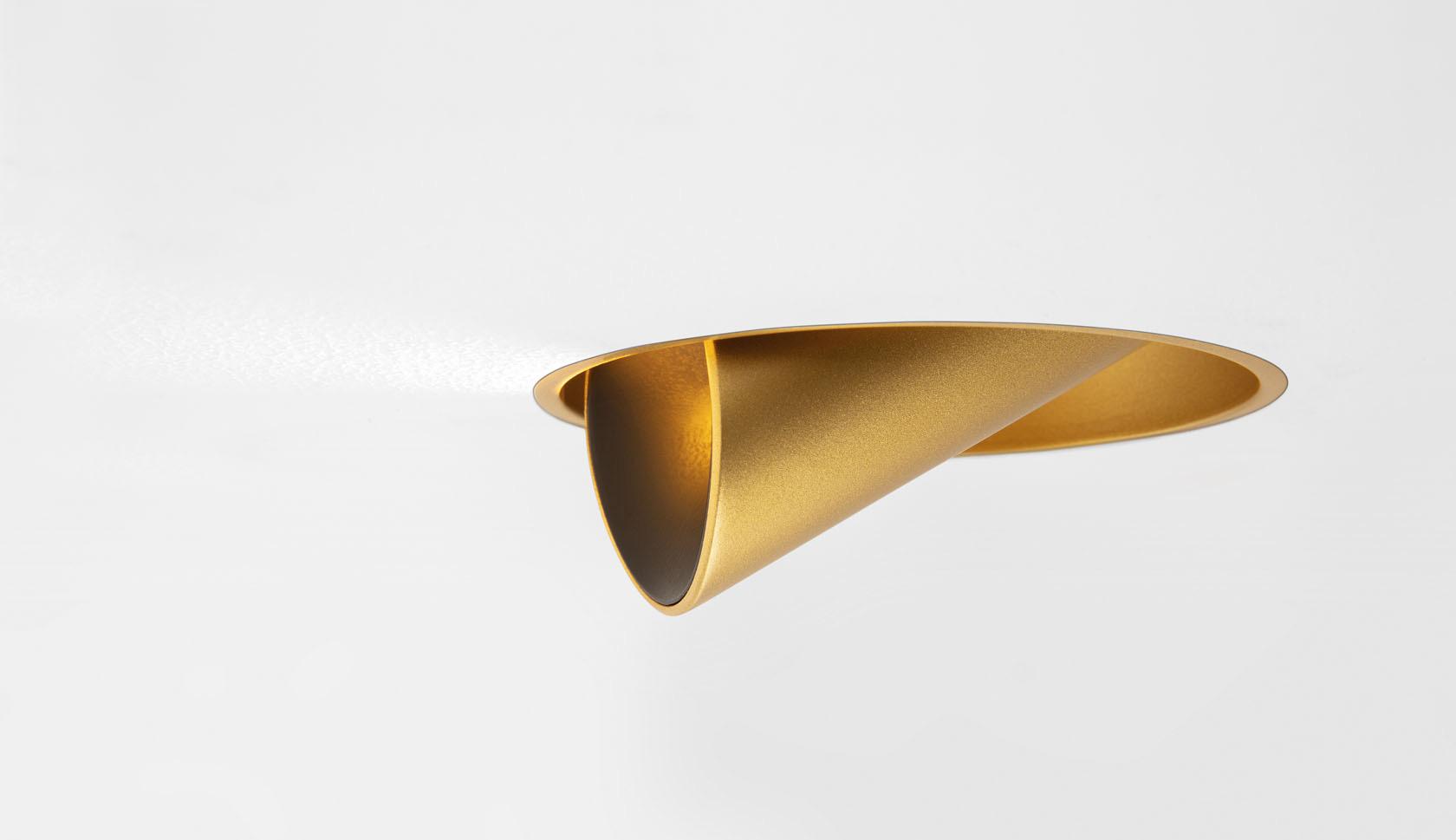 Süvisvalgusti Hollow trimless LED 8.5W 461lm 2700K suunatav h 360° v 90° kuldne
