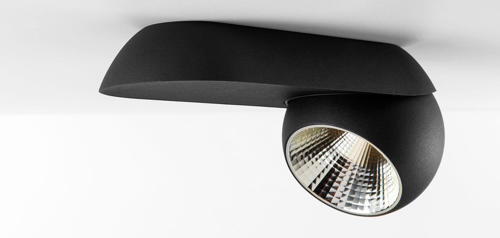 Marbul 1X9,3W LED 715lm 2700K CRI 90 lai vihk, dimmitav, must, lae- ja seinavalgusti