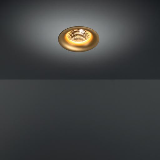 Smart 115 Cake 1Lx LED süvisvalgusti 1100-3000lm, keskm. vihuga, kuldne, soevalge 2700K, CRI92, 350-1050 mA 11-36,7W