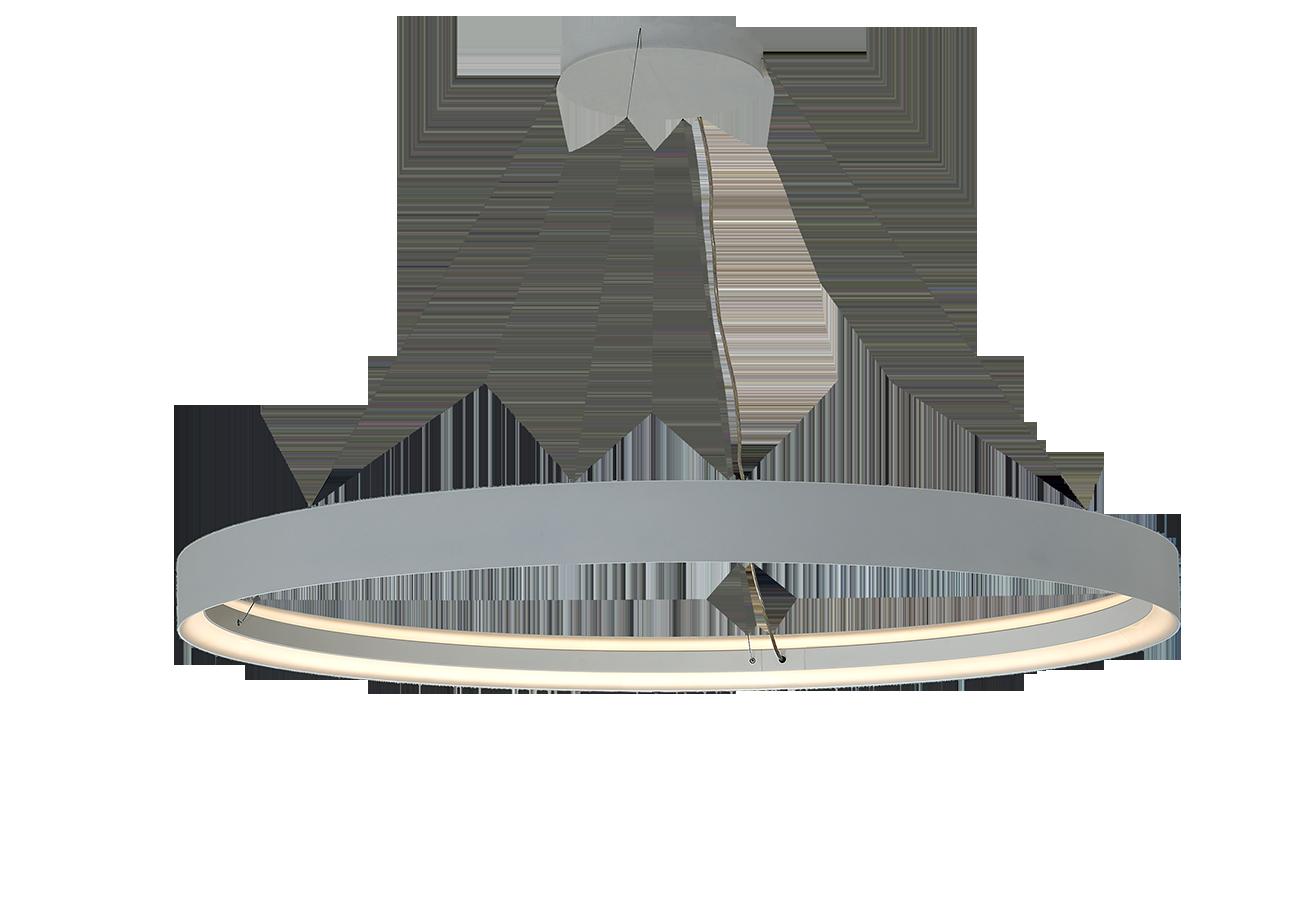 INDI LED rippvalgusti 96W 8250lm, ø1000x106mm, valge, riputid 2m komplektis