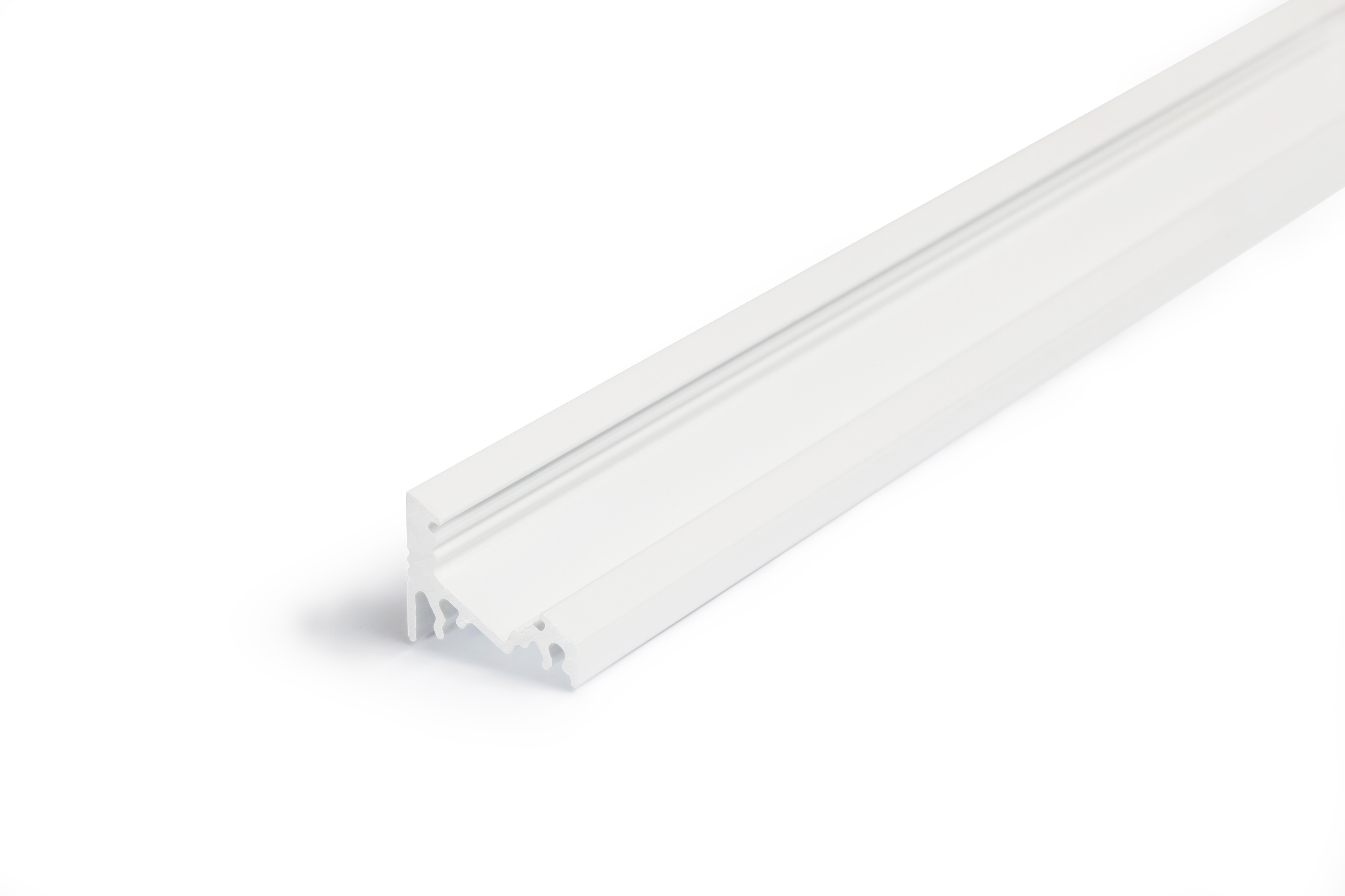 LED riba alusprofiil Corner10, valge, L=2000mm (10mm laiusele LEDribale) LEDriba paigaldus 60* või 30*