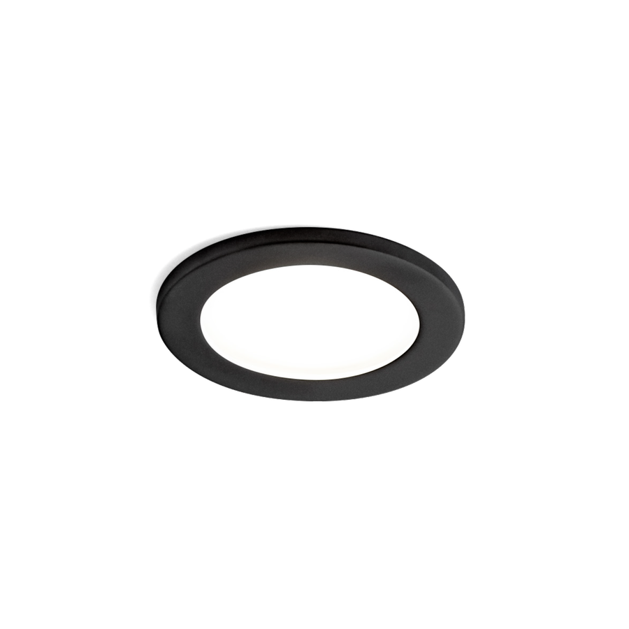 Luna Round IP44 1.0 LED HV 7W 3000K dim 90CRI 220-240V, Must