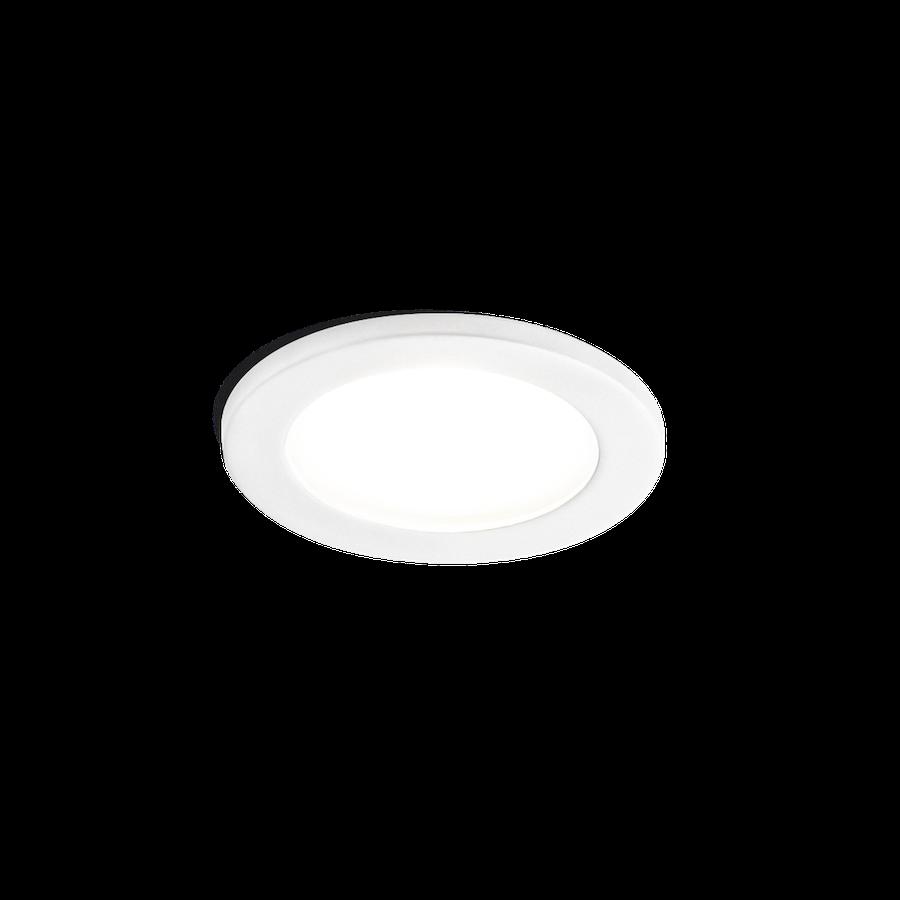 Luna Round IP44 1.0 LED HV 7W 3000K dim 90CRI 220-240V, Valge