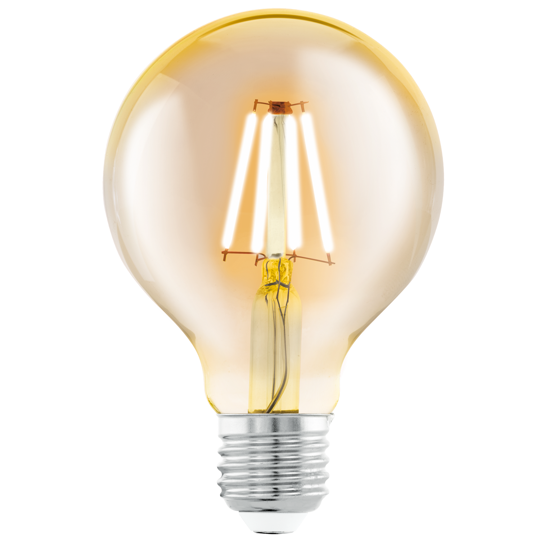 4W E27 LED 330lm 2200K 25000h Ø80mm h=118 mm, amber (30W hõõglamp)