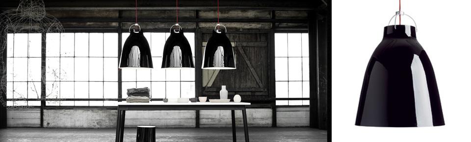 Lightyears+Caravaggio P0, 33W  G9 Ø110mm, läikiv must, punane kaabel,  pakendita