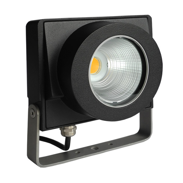 Lito LED 19W 2000lm 3000K 38° vihk IP66 must välisvalgusti prožektor (lisavarustuses erinevad optikad)