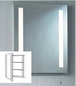 Livorno valgustatud peegelkapp 2x14W T5, niiskuskindel IP44, nöörlülitiga, mõõdud:700x600x100mm, valgusallikad komplektis