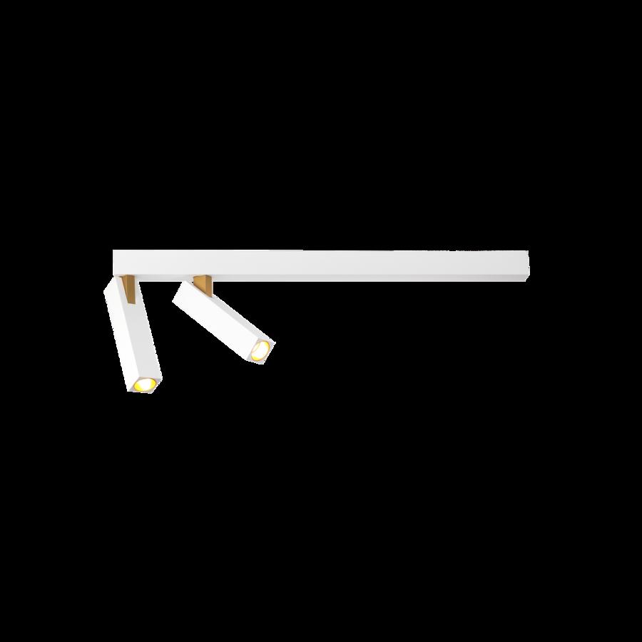 Laevalgusti MICK 2.0 2xLED 2x7W 2x230lm alumiinium, valge-kuldne