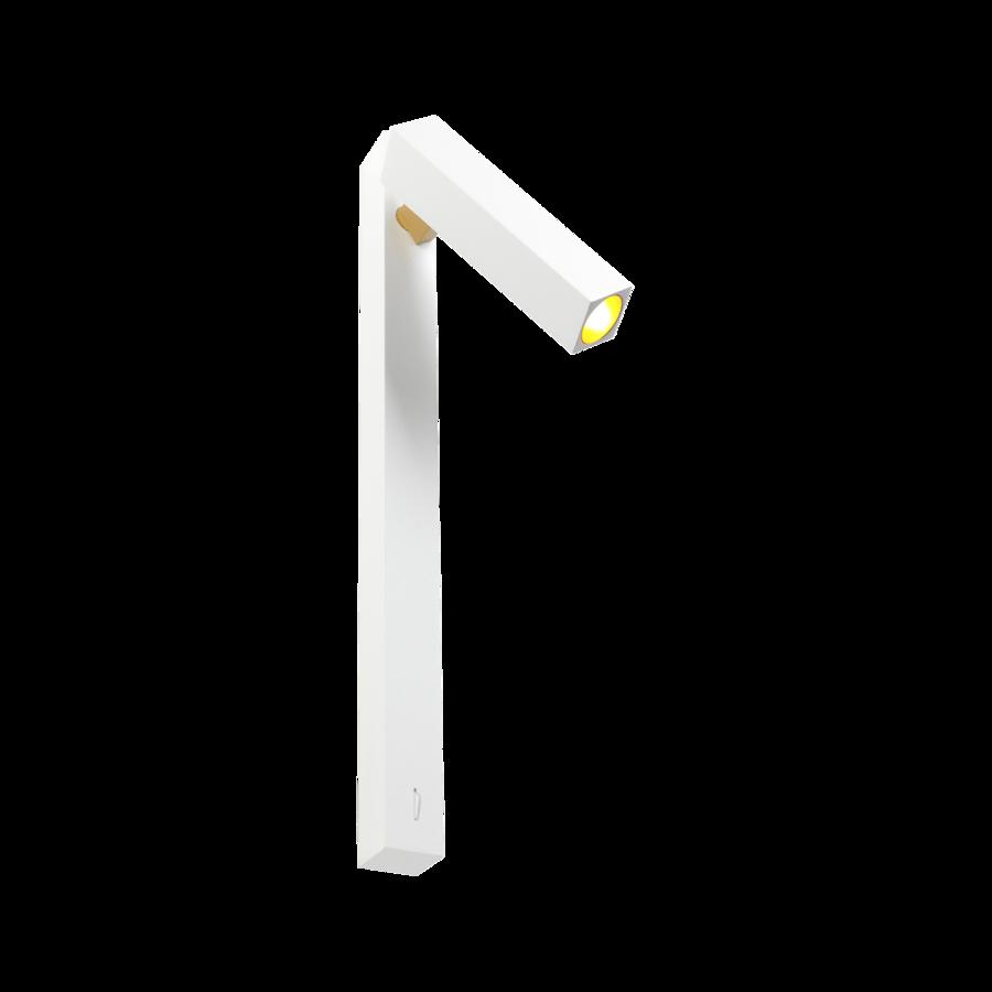 Seinavalgusti MICK SNOOZE 1.0 LED 7.5W 190lm 2700K CRI90 alumiinium, valge-kuldne