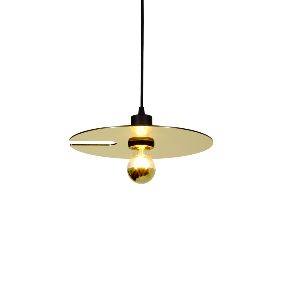 MIRRO SUSPENDED 1.0 Max 15W E27 LED IP20 rippvalgusti, kuldne, 6m