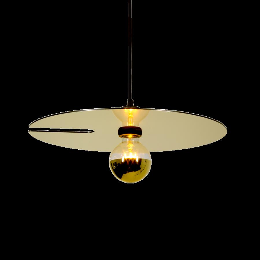 MIRRO SUSPENDED 2.0 Max 15W E27 LED IP20 rippvalgusti, kuldne, 6m