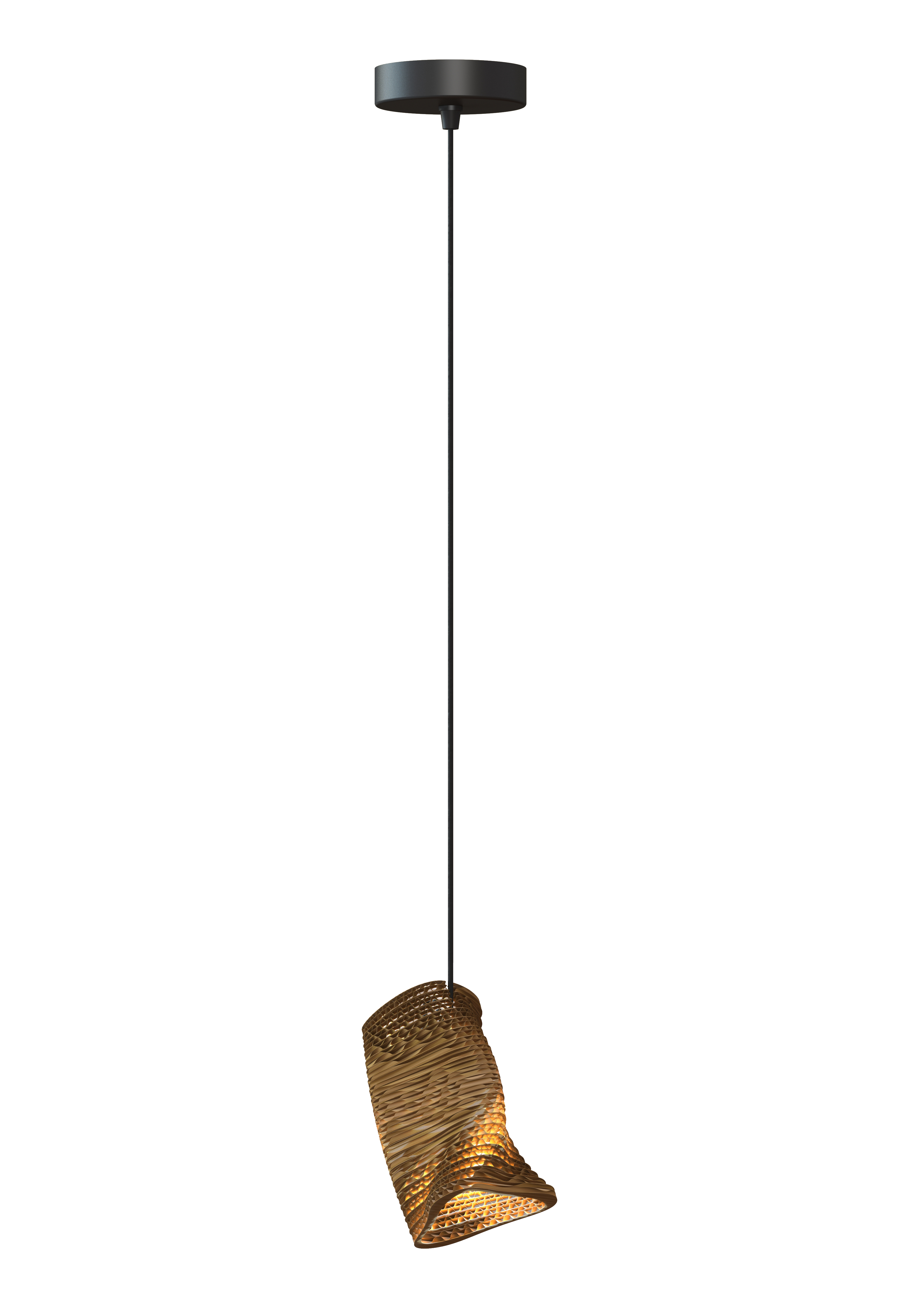 Moa single rippvalgusti 6W G9; Ø 2.5cm; pruun