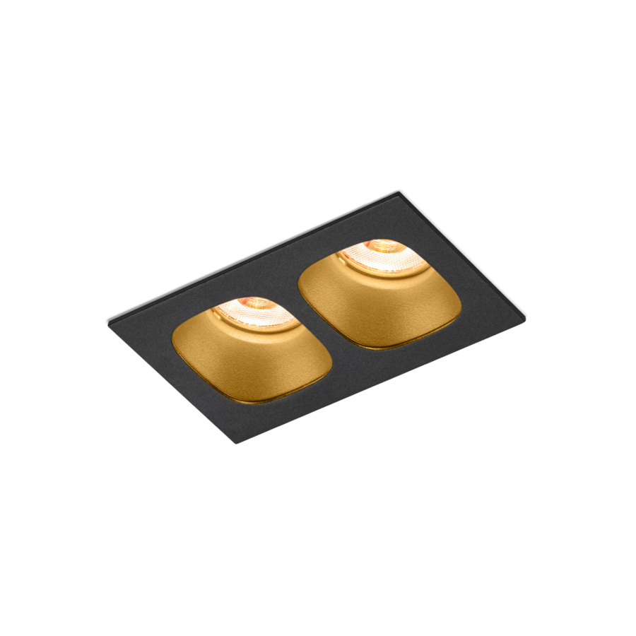 Süvisvalgusti Pirro 2.0 LED 8,6W 845lm 3000K 18V must-kuldne