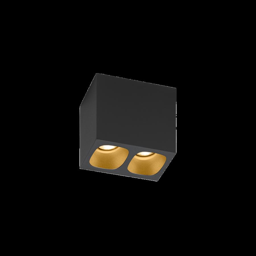 Laevalgusti PIRRO 2.0 2x LED 5W 2x380lm CRI90 alumiinium, must-kuldne
