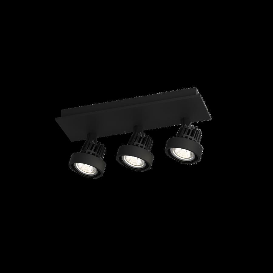 Pluxo 3.0 LED 3x8W 2700K dim 90CRI 220-240V, Must