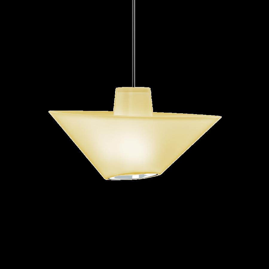 REVER 1.0 Max 15W E27 LED IP20 rippvalgusti, kollane, must juhe, kroom serv