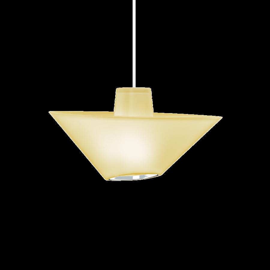 REVER 1.0 Max 15W E27 LED IP20 rippvalgusti, kollane, valge juhe, kroom serv