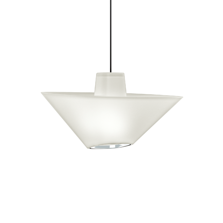 REVER 1.0 Max 15W E27 LED IP20 rippvalgusti, valge, must juhe, kroom serv
