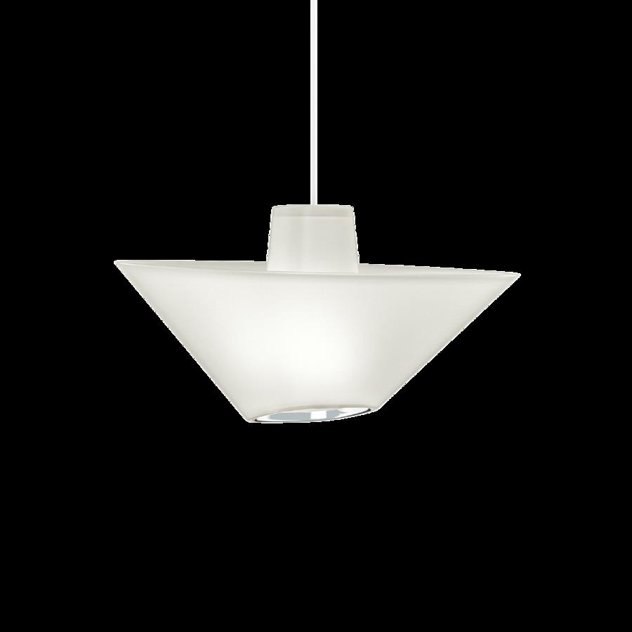 REVER 1.0 Max 15W E27 LED IP20 rippvalgusti, valge, valge juhe, kroom serv