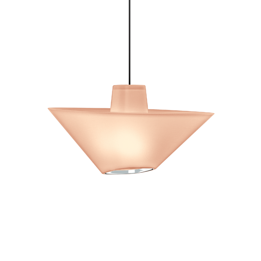 REVER 1.0 Max 15W E27 LED IP20 rippvalgusti, roosa, must juhe, kroom serv