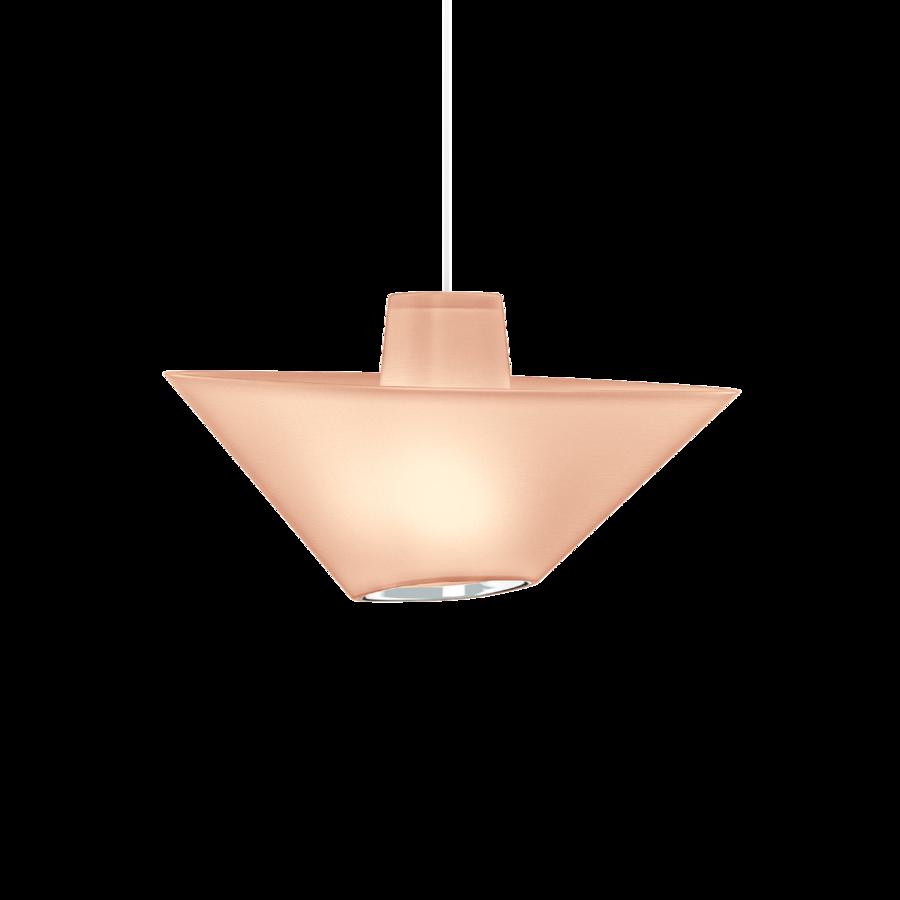 REVER 1.0 Max 15W E27 LED IP20 rippvalgusti, roosa, valge juhe, kroom serv