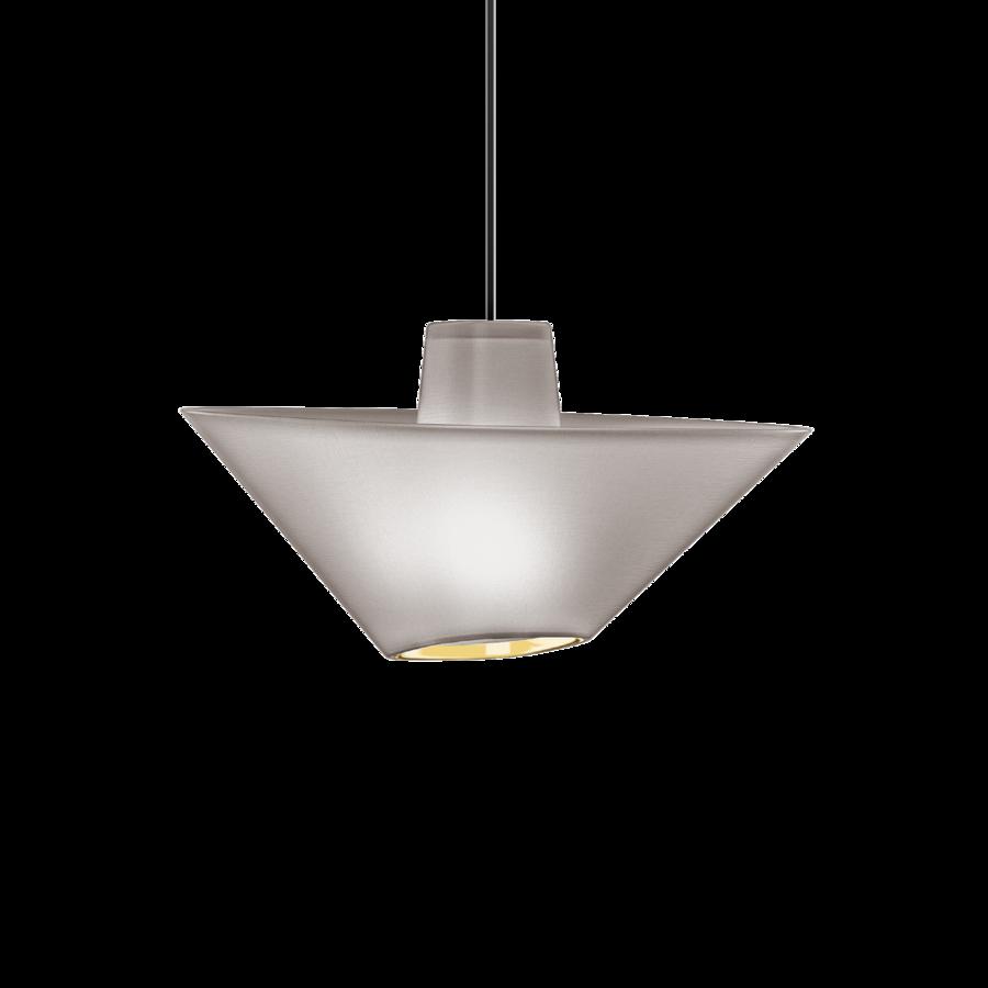 REVER 1.0 Max 15W E27 LED IP20 rippvalgusti, hall, must juhe, kuldne serv