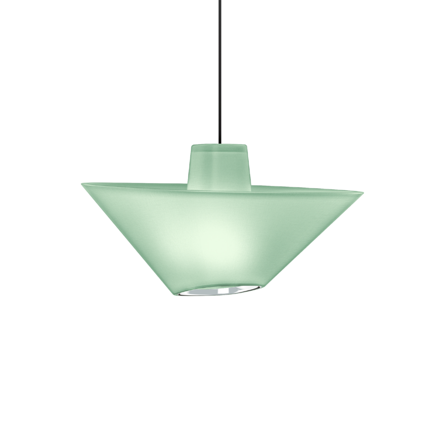 REVER 1.0 Max 15W E27 LED IP20 rippvalgusti, roheline, must juhe, kroom serv