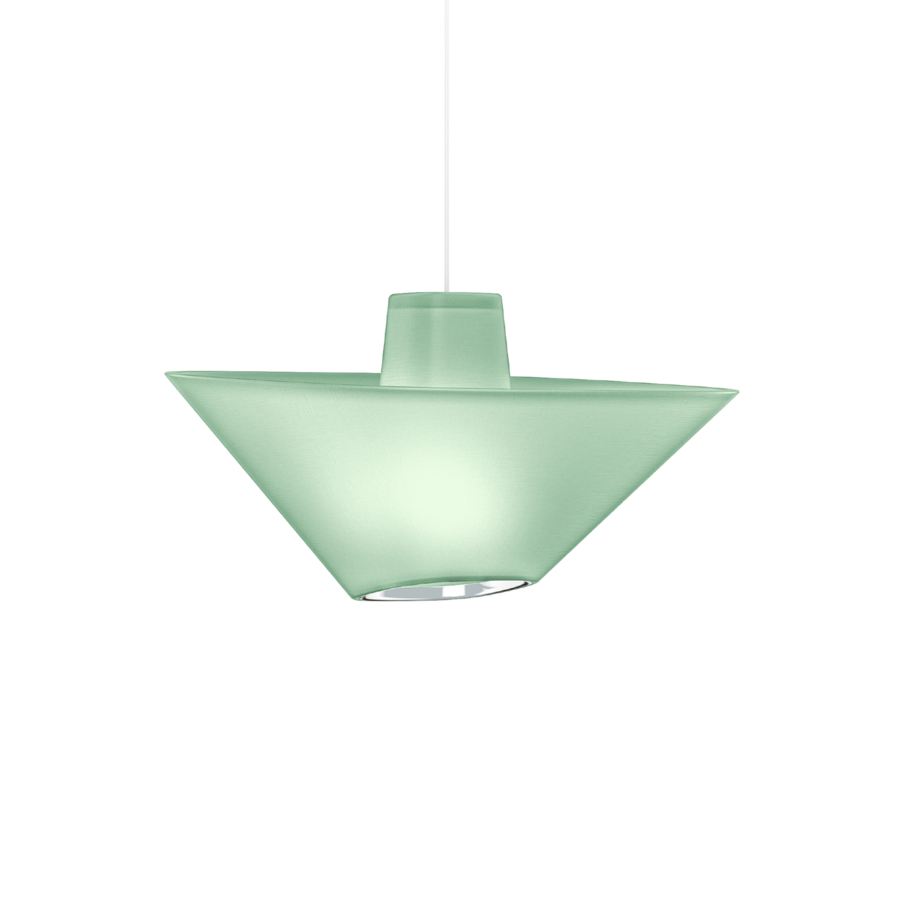REVER 1.0 Max 15W E27 LED IP20 rippvalgusti, roheline, valge juhe, kroom serv