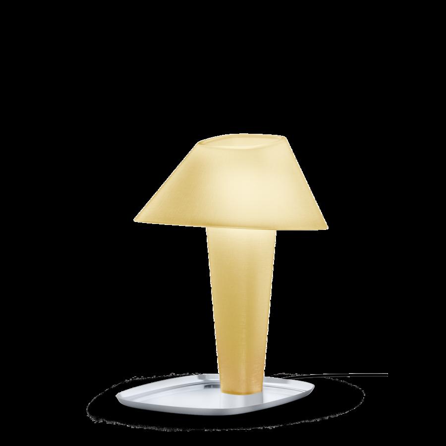 REVER TABLE 1.0 Max 12W E27 LED IP20 lauavalgusti, kollane, kroom alus, must juhe hämarduslülitiga