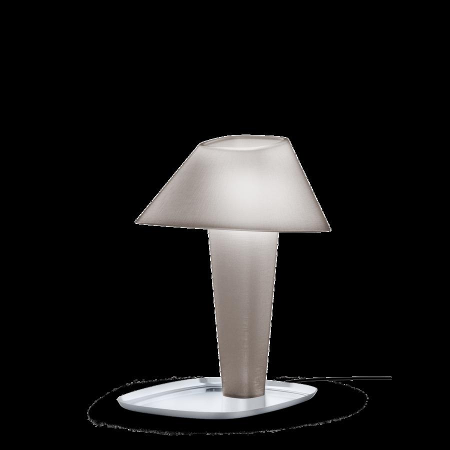 REVER TABLE 1.0 Max 12W E27 LED IP20 lauavalgusti, hall, kroom alus, must juhe hämarduslülitiga