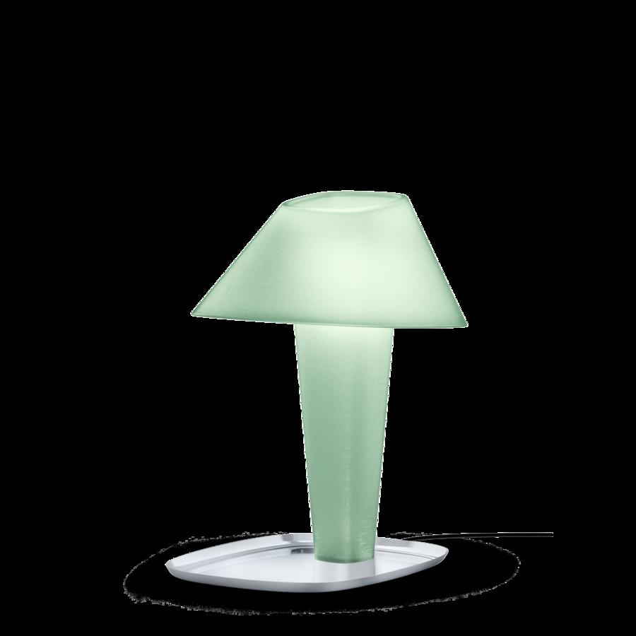 REVER TABLE 1.0 Max 12W E27 LED IP20 lauavalgusti, roheline, kroom alus, must juhe hämarduslülitiga