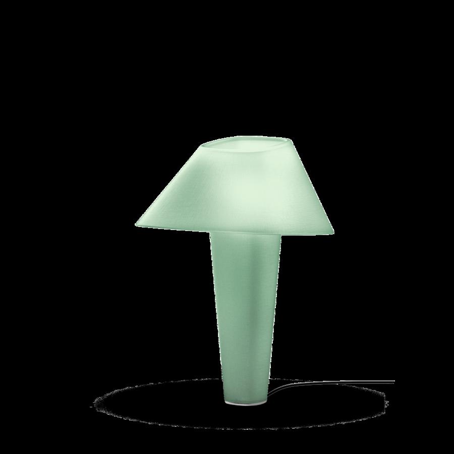 REVER TABLE 2.0 Max 12W E27 LED IP20 lauavalgusti, roheline, must juhe hämarduslülitiga, kroom detail