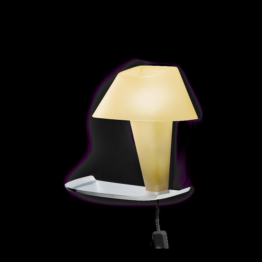 REVER WALL 1.1 Max 6W E14 LED IP20 seinavalgusti, kollane, must juhe pistiku ja hämarduslülitiga, kroom alus
