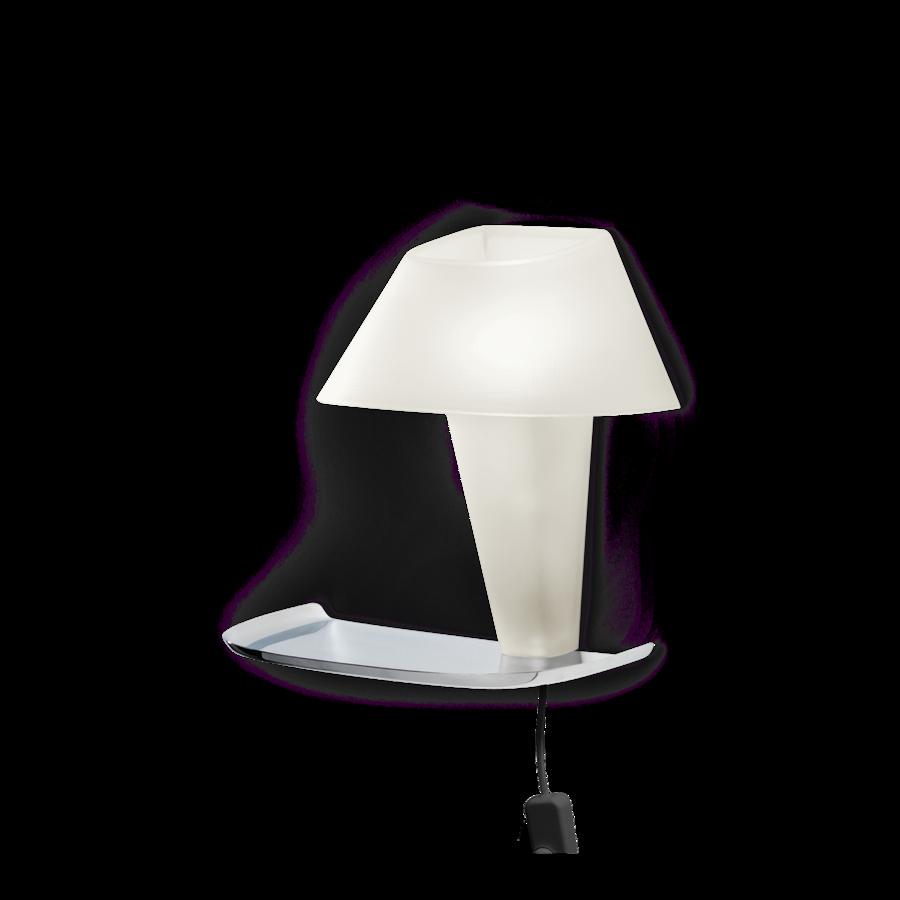 REVER WALL 1.1 Max 6W E14 LED IP20 seinavalgusti, valge, must juhe pistiku ja hämarduslülitiga, kroom alus