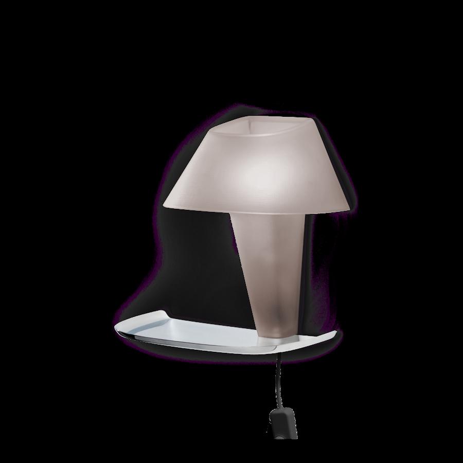 REVER WALL 1.1 Max 6W E14 LED IP20 seinavalgusti, hall, must juhe pistiku ja hämarduslülitiga, kroom alus