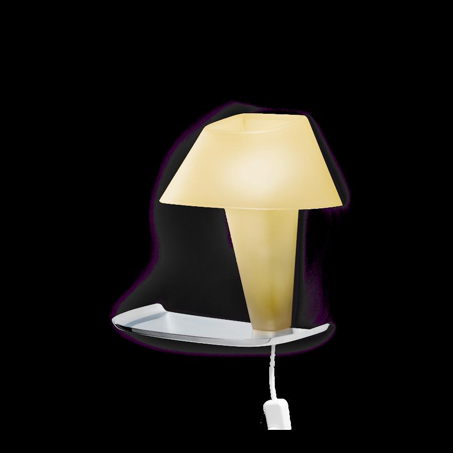 REVER WALL 1.1 Max 6W E14 LED IP20 seinavalgusti, kollane, valge juhe pistiku ja hämarduslülitiga, kroom alus