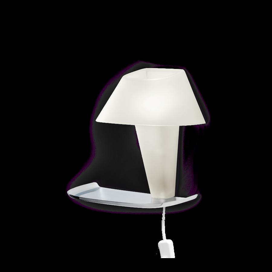 REVER WALL 1.1 Max 6W E14 LED IP20 seinavalgusti, valge, valge juhe pistiku ja hämarduslülitiga, kroom alus