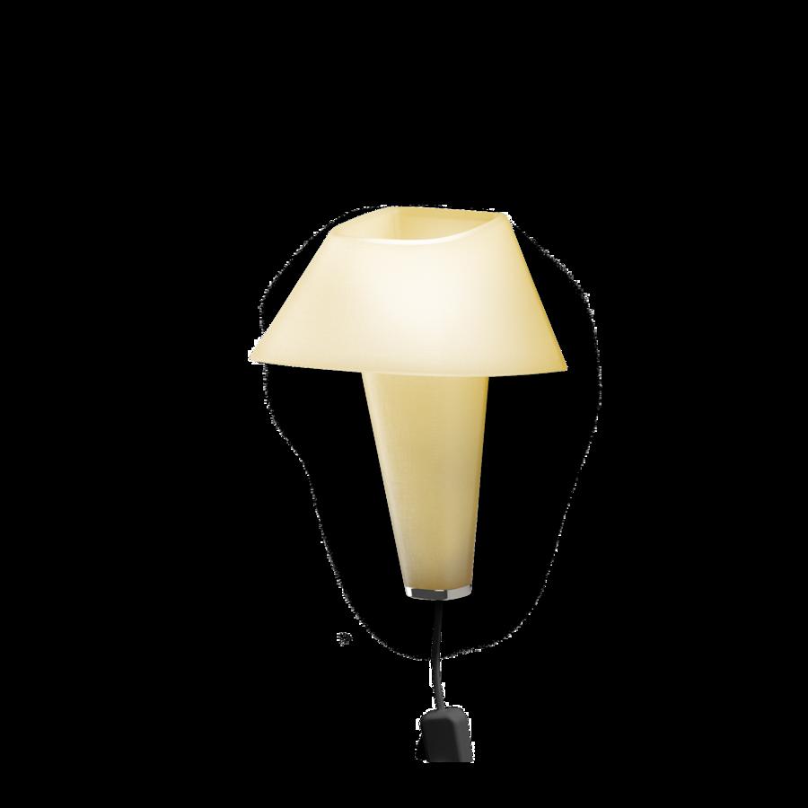 REVER WALL 2.1 Max 6W E14 LED IP20 seinavalgusti, kollane, must juhe pistiku ja hämarduslülitiga, kroom detail