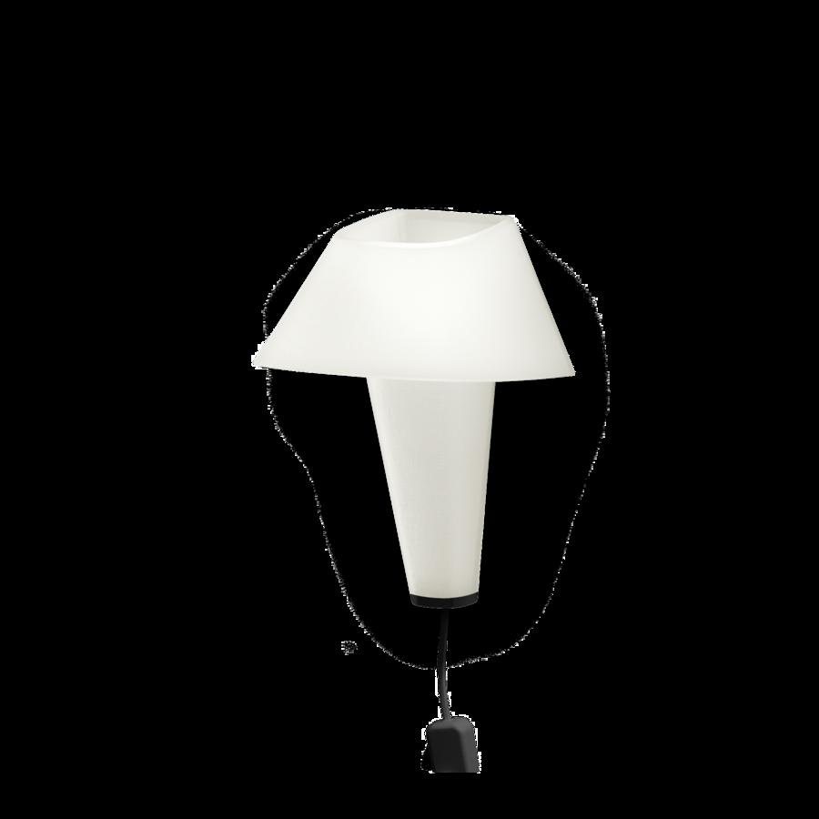 REVER WALL 2.1 Max 6W E14 LED IP20 seinavalgusti, valge, must juhe pistiku ja hämarduslülitiga, must detail