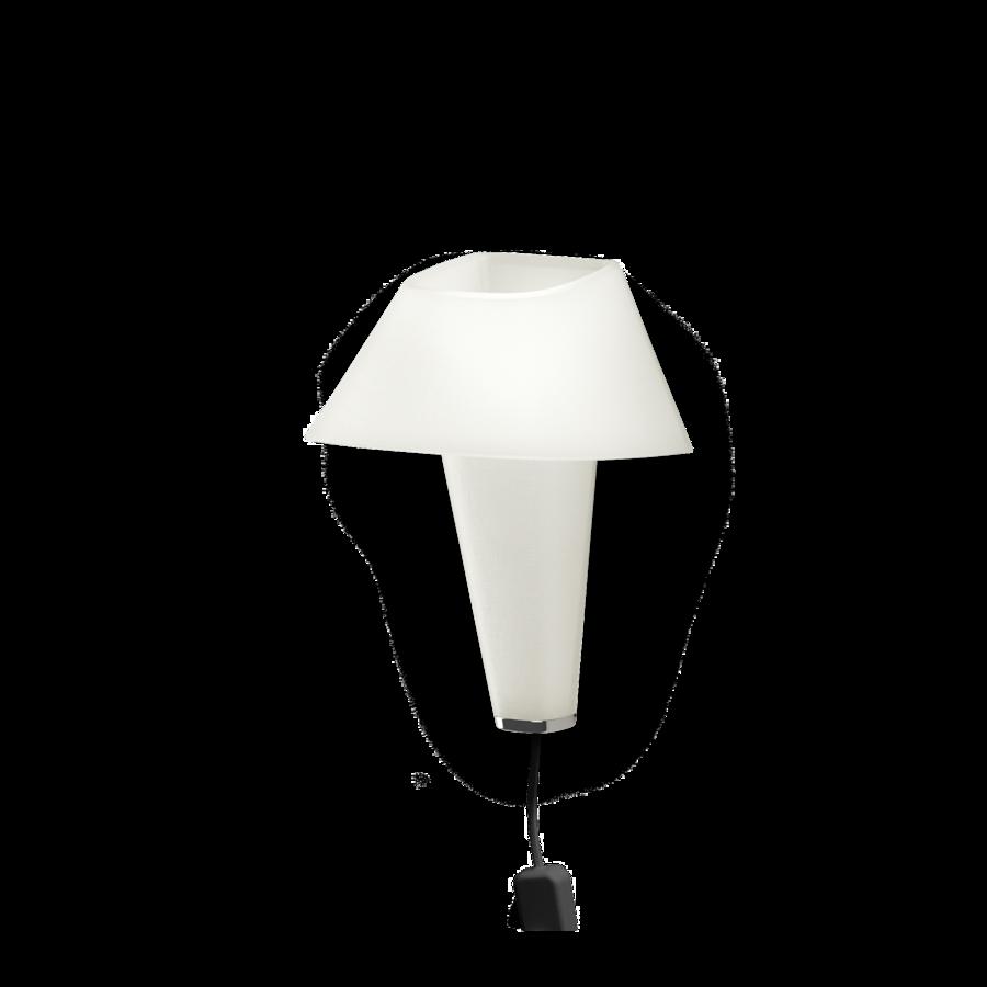 REVER WALL 2.1 Max 6W E14 LED IP20 seinavalgusti, valge, must juhe pistiku ja hämarduslülitiga, kroom detail