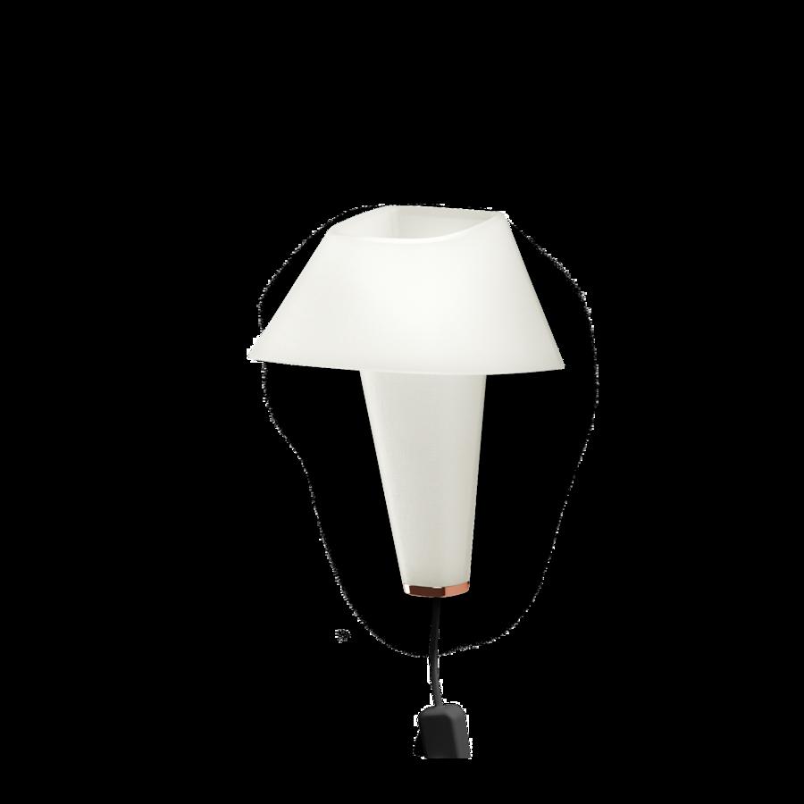 REVER WALL 2.1 Max 6W E14 LED IP20 seinavalgusti, valge, must juhe pistiku ja hämarduslülitiga, vask detail