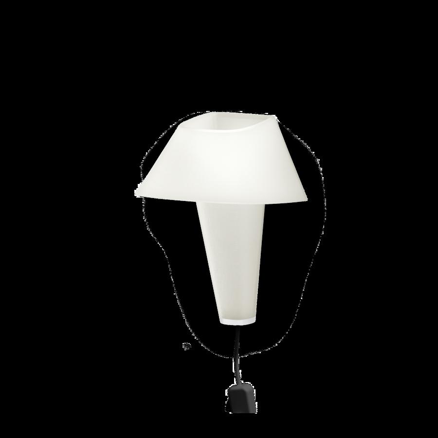 REVER WALL 2.1 Max 6W E14 LED IP20 seinavalgusti, valge, must juhe pistiku ja hämarduslülitiga, valge detail