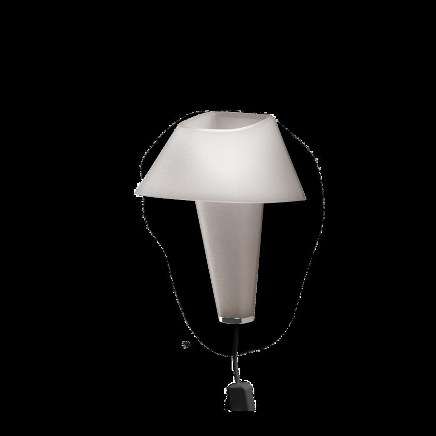 REVER WALL 2.1 Max 6W E14 LED IP20 seinavalgusti, hall, must juhe pistiku ja hämarduslülitiga, kroom detail